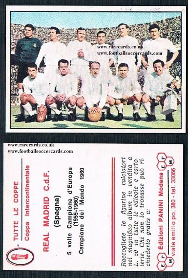 1965 Di Stefano Real Madrid Panini